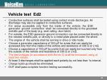 vehicle test ed2