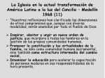 la iglesia en la actual transformaci n de am rica latina a la luz del concilio medell n 1968 11
