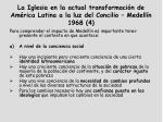 la iglesia en la actual transformaci n de am rica latina a la luz del concilio medell n 1968 4