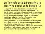 la teolog a de la liberaci n y la doctrina social de la iglesia 1