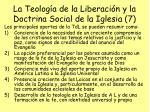 la teolog a de la liberaci n y la doctrina social de la iglesia 7