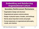 embedding and reinforcing organizational culture11