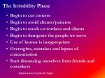 the irritability phase