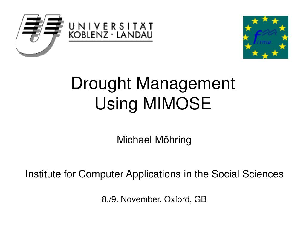 drought management using mimose l.