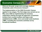 economic census 7