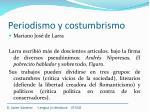 periodismo y costumbrismo24