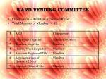 ward vending committee