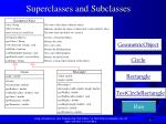 superclasses and subclasses