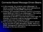 connector based message driven beans78