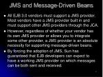 jms and message driven beans