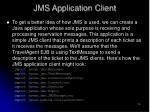 jms application client