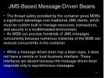 jms based message driven beans30