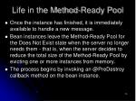 life in the method ready pool74