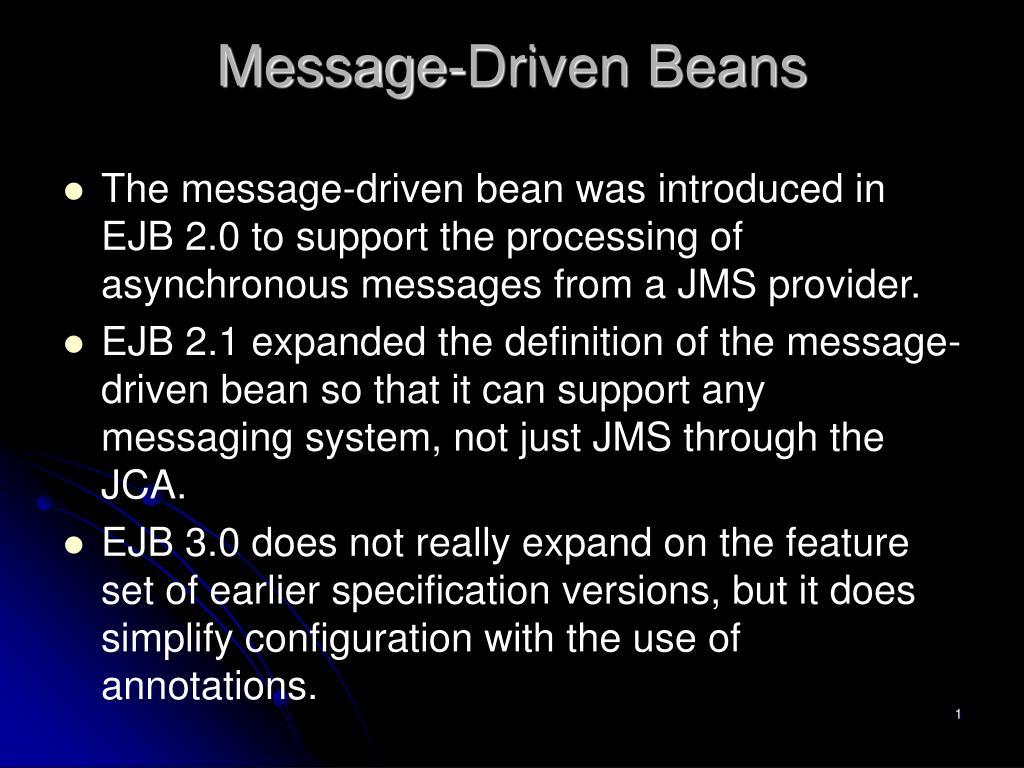 message driven beans l.