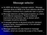 message selector