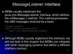 messagelistener interface