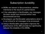 subscription durability55