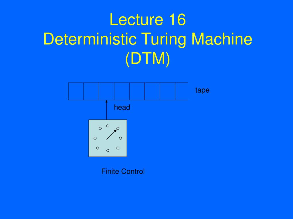 lecture 16 deterministic turing machine dtm l.