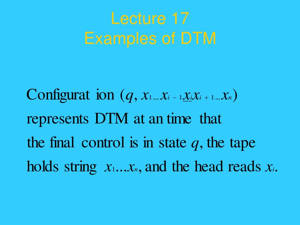 Lecture 17