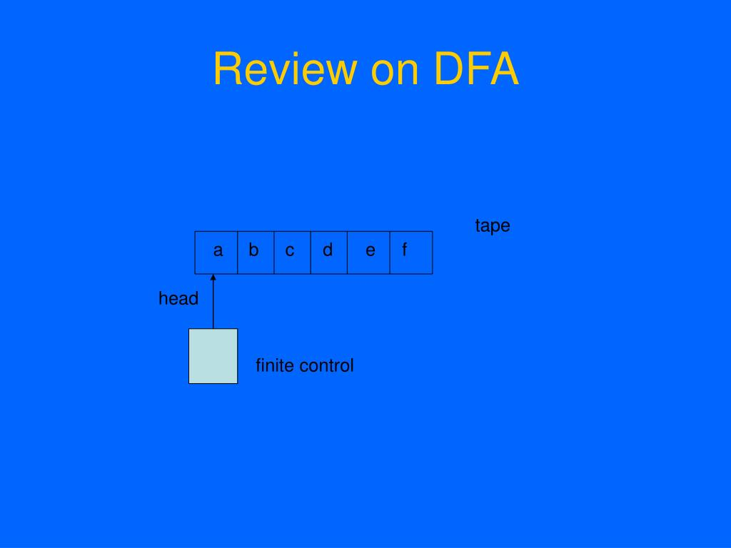 Review on DFA