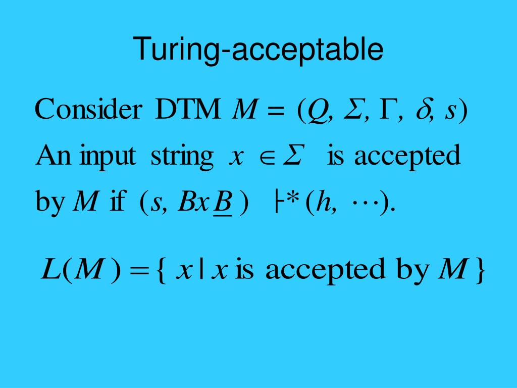 Turing-acceptable