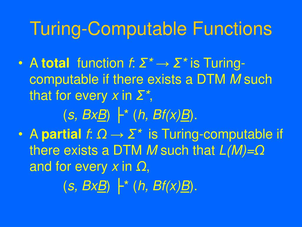 Turing-Computable Functions