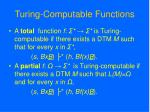 turing computable functions