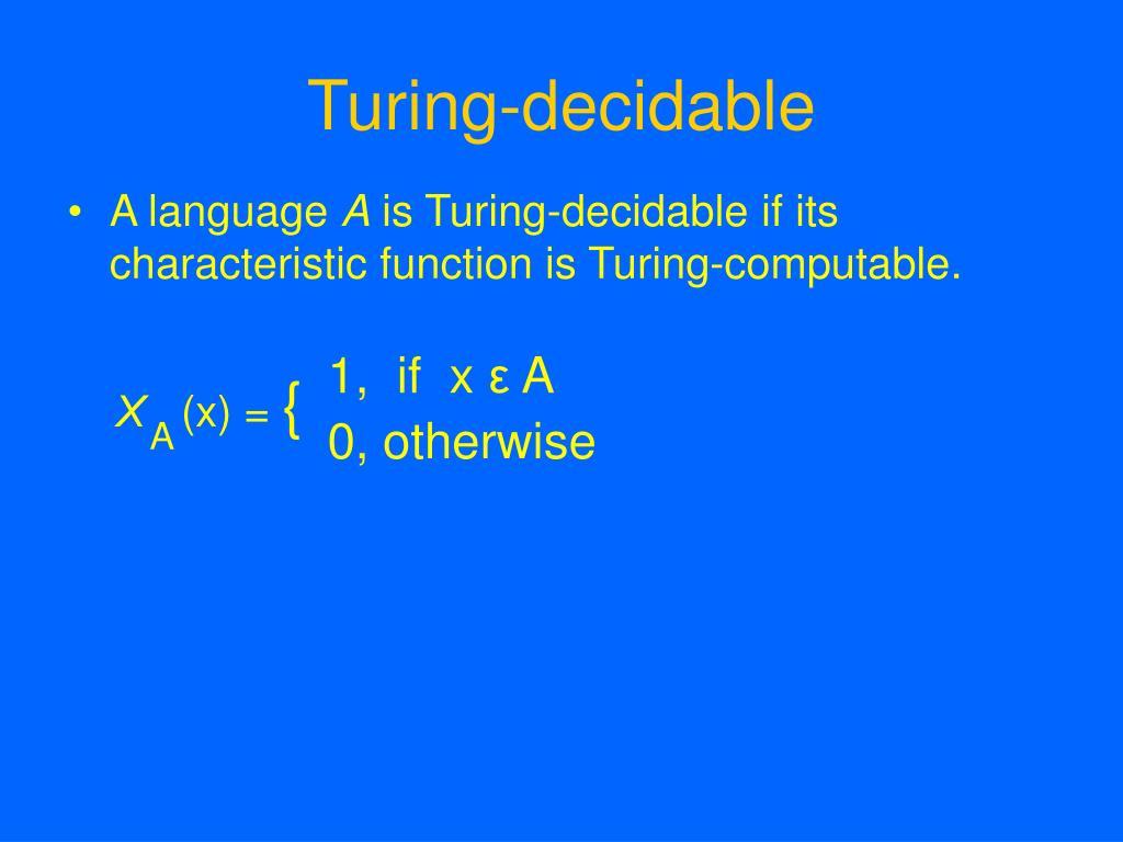 Turing-decidable