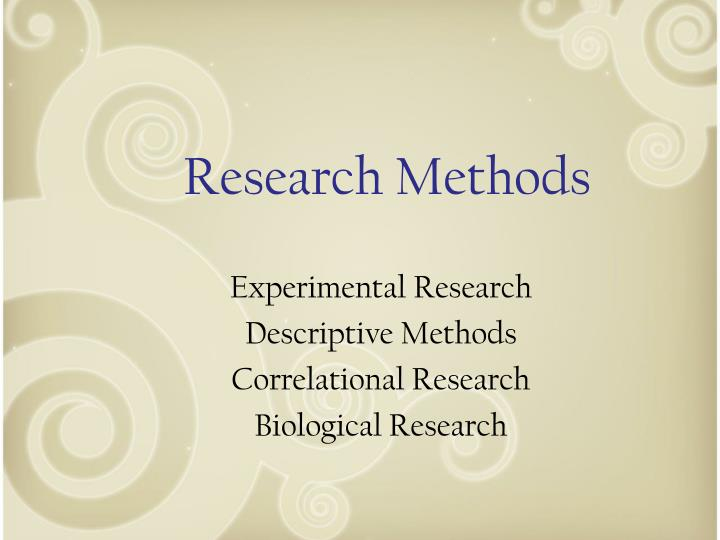 research methods n.