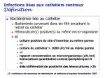 infections li es aux cath ters centraux d finition