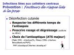 infections li es aux cath ters centraux pr vention facteurs de risque li s la pose17