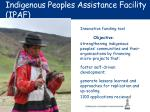 indigenous peoples assistance facility ipaf