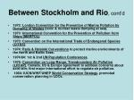 between stockholm and rio cont d