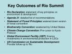 key outcomes of rio summit