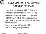 etablissements et services participants n 18
