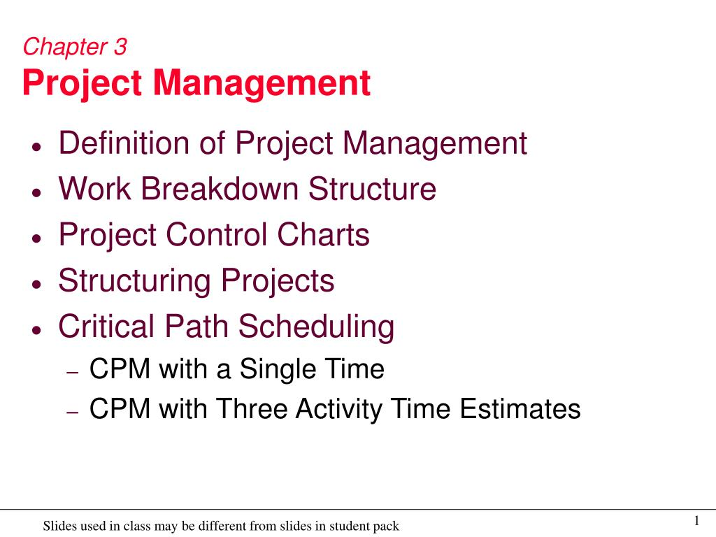 chapter 3 project management l.