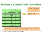 example 2 expected time calculations