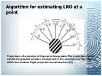 algorithm for estimating lro at a point21