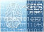 fingerprint enhancement by directional filtering