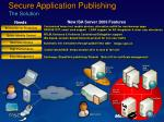 secure application publishing the solution