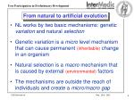 from natural to artificial evolution