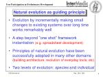 natural evolution as guiding principle