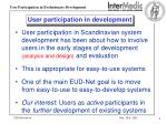 user participation in development