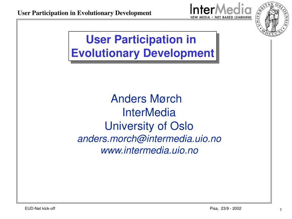 user participation in evolutionary development l.