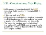 cck c omplementary c ode k eying30