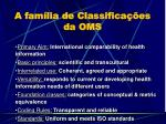 a fam lia de classifica es da oms