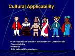 cultural applicability