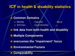 icf in health disability statistics