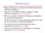 web extraction