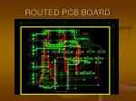 routed pcb board